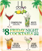 Friday Night $8 cocktails